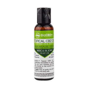 BioCBD Premium CBD Topical Oil for Muscle & Joint Relief 2oz