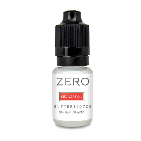 ZERO: Butterscotch e Liquid Made with Hemp Oil (50mg CBD)