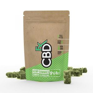 CBDfx CBD Gummy Bears with Turmeric and Spirulina