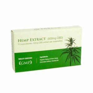 Endoca: Hemp CBD Suppository 50mg CBD (10 Capsules)