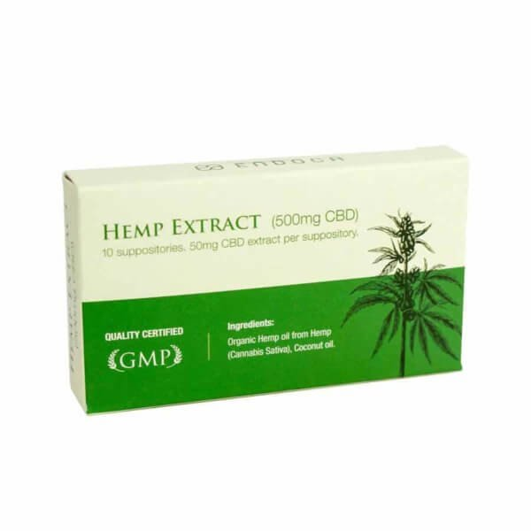 Endoca: Hemp CBD Suppository 50mg CBD (10 Capsules)