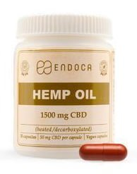 Endoca Hemp Oil Capsules 1500 mg CBD