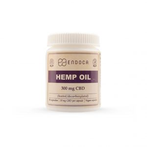 Endoca Raw Hemp Oil Capsules 300 mg CBD + CBDa