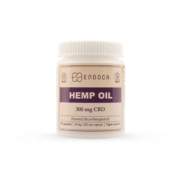 Endoca Raw Hemp Oil Capsules 300 mg CBD + CBDa