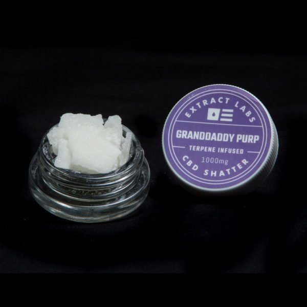 Extract Labs CBD Shatter Granddaddy Purple