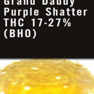 AAAA Grand Daddy Purple Shatter THC 17-27%