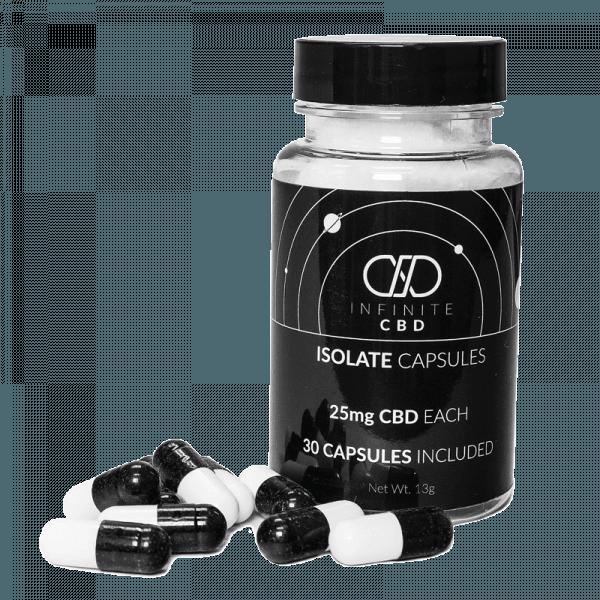 Infinite CBD Isolate Capsules 30ct 25mg CBD
