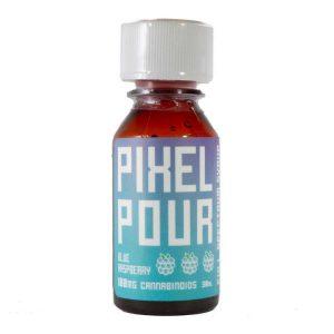 PhytoFamily Pixel Pour Full Spectrum CBD Syrup Blue Raspberry