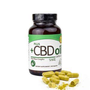 Plus CBD Oil: Cannabidiol Supplement Capsules (900mg CBD)