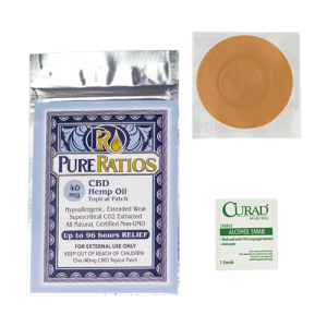 Pure Ratios: Hemp Oil CBD Patch (40mg CBD)