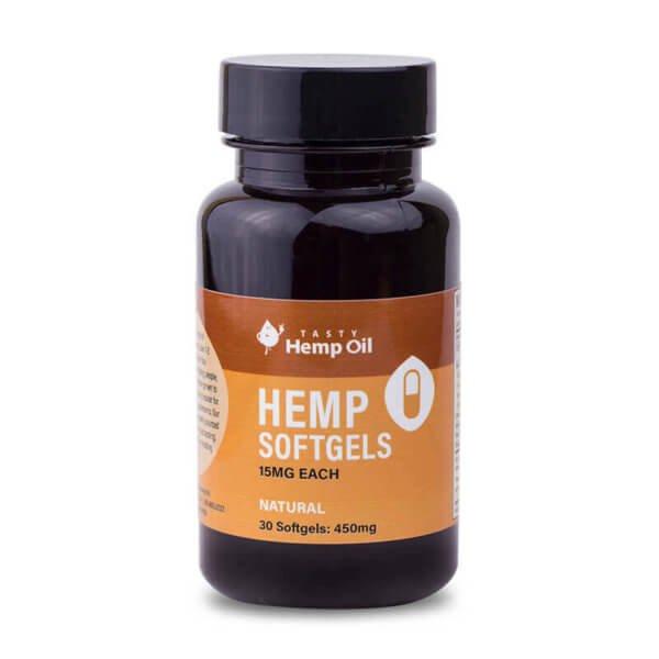 Tasty Hemp Oil: CBD Gel Caps – 30ct (450mg CBD)