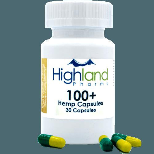 Highland Pharms Hemp Vegan Capsules 100mg -30ct Online